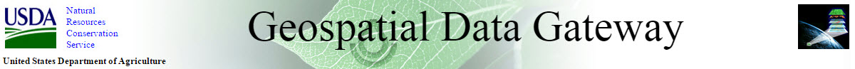 Geospatial Data Gateway Masthead